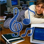 the bill gates song, photo from microsoft 1983