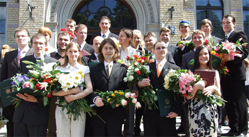 university of latvia physics graduates 2008