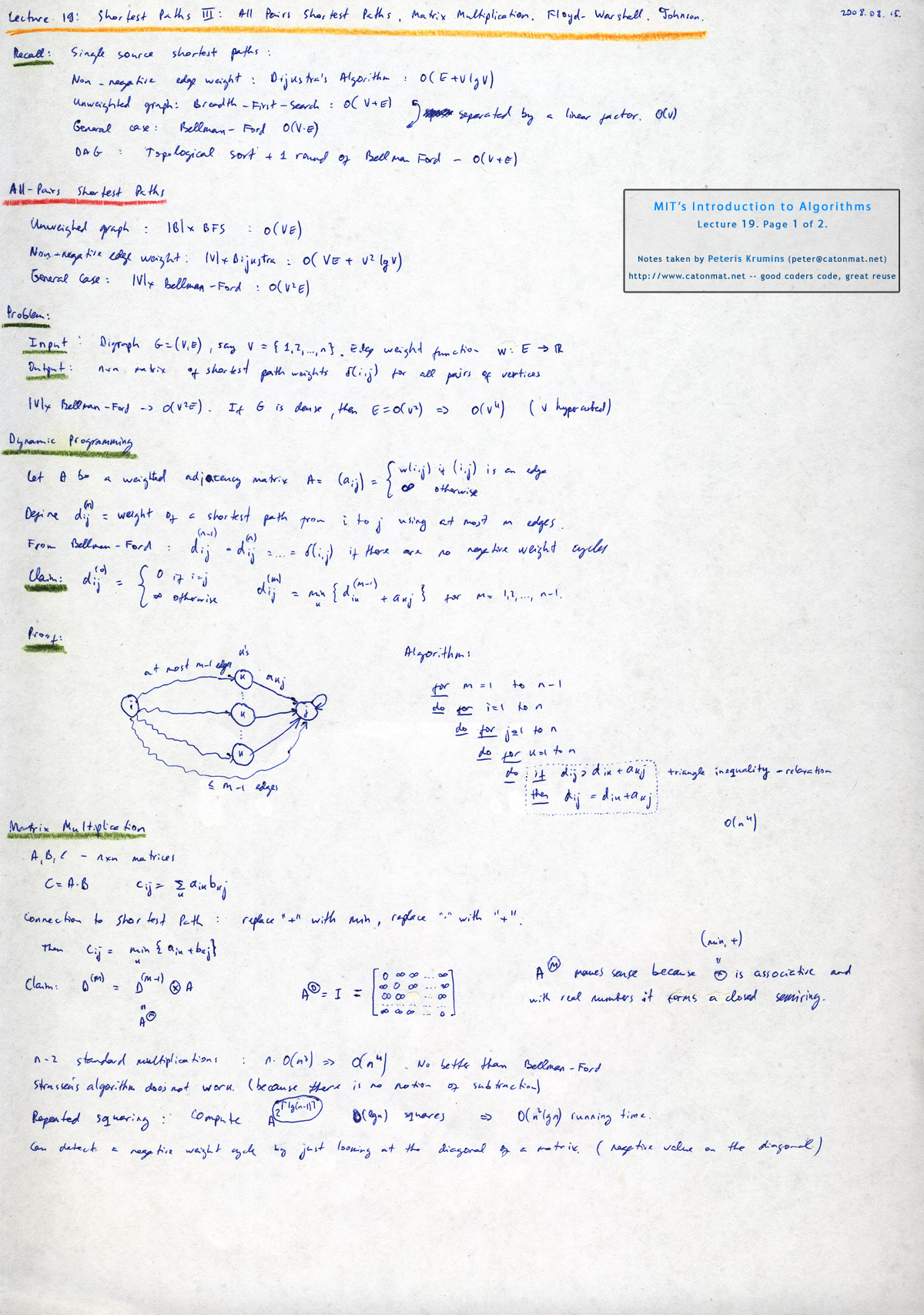 mit opencourseware algorithms dynamic programming Mit opencourseware educators utilize the materials for curriculum development, while students and self-learners around the globe use them for self-study or supplementary use with more than 2,000 courses now available, ocw is delivering on the promise of open sharing of knowledge.