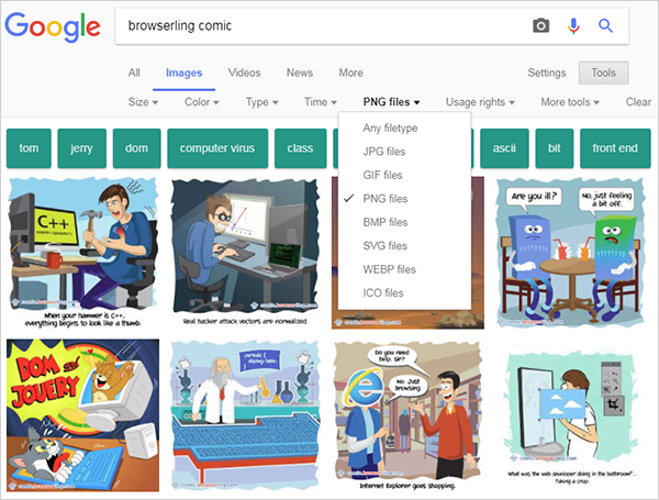 - browserling comic google image search results - Why does Browserling's comic have 10 different formats?