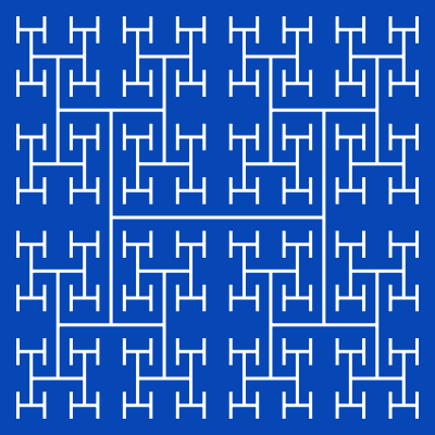 - h tree fractal - More Fractal Curve Generators