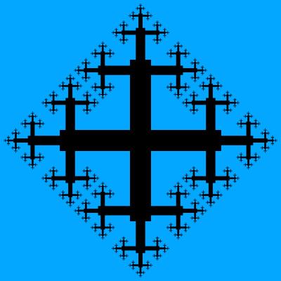 - quadratic cross fractal - Even More Fractal Curve Generators