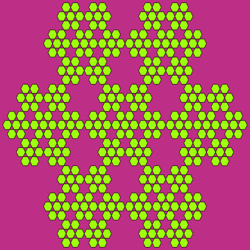 - sierpinski hexagon fractal - Fractal Generators, Part 4