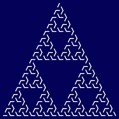 - sierpinski maze fractal - Even More Fractal Curve Generators