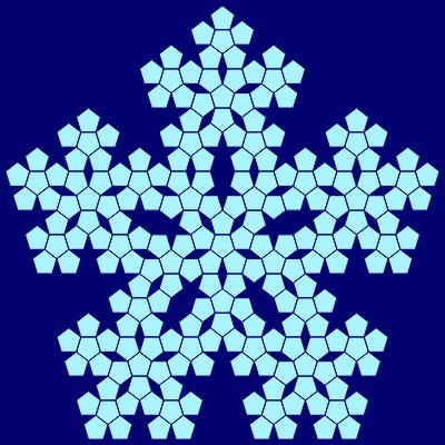 - sierpinski pentagon fractal - Even More Fractal Curve Generators