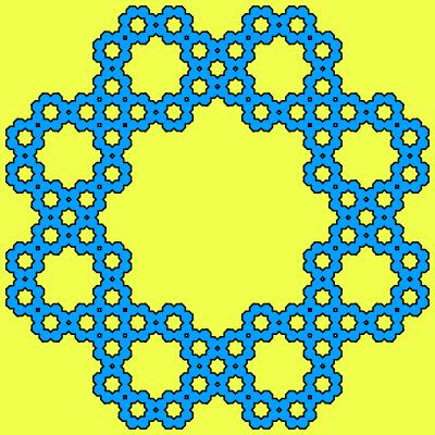 - sierpinski polyflake octagon fractal - Even More Fractal Curve Generators