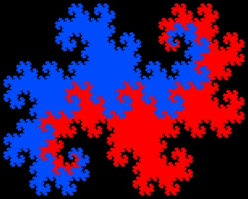 - twin dragon fractal - Even More Fractal Curve Generators
