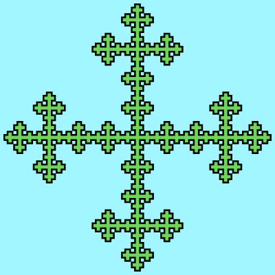 - vicsek cross fractal - More Fractal Curve Generators