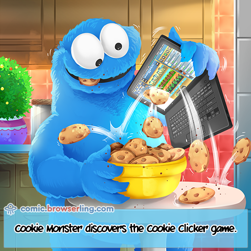 Before the Internet, Cookie Monster was the only way to get rid of cookies.