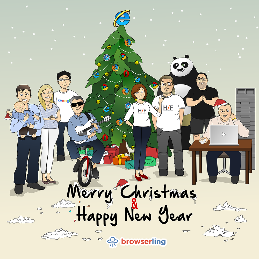 Merry Browsery Christmas & Happy Browsery New Year