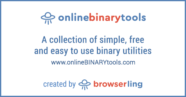 - onlinebinarytools by browserling - Eighth site in online tools network: onlineBINARYtools.com