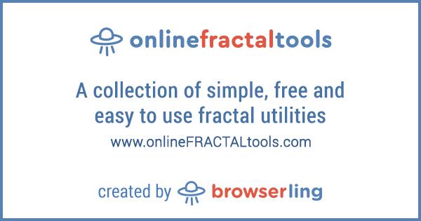 Eighteenth site in online tools network: onlineFRACTALtools com