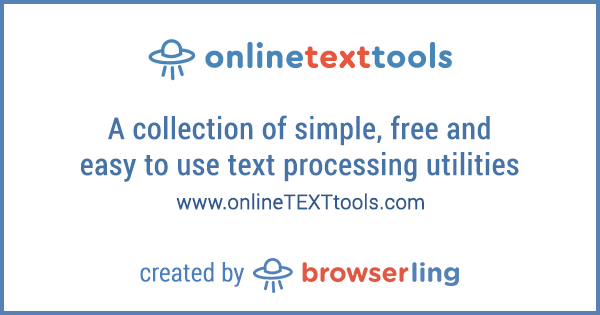 - onlinetexttools by browserling - Sixteenth site in online tools network – onlineTEXTtools.com