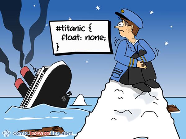 #titanic { float: none }